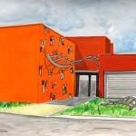 Projet de décor mural pour le bâtiment du CNRGV (Toulouse)