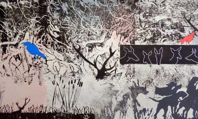 Le cerf - fresque 3